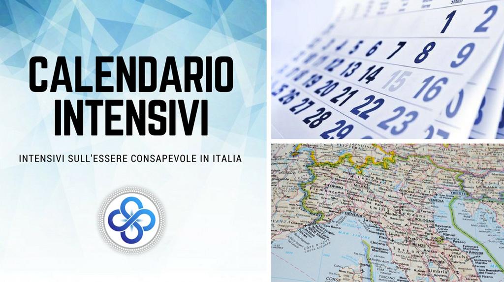 Calendario Intensivi sull'Essere Consapevole in Italia